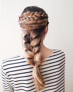 soooo many braids!  love this! ~  we ❤ this! moncheribridals.com