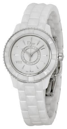 Christian Dior VIII Diamond White Ceramic Ladies Watch CD1221E2C001 *** Click image to review more details.