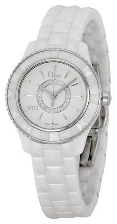 Christian Dior VIII Diamond White Ceramic Ladies Watch CD1221E2C001 *** Click image to review more details.