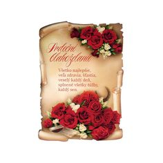 Srdečné blahoželanie - ELVIAS, s.r.o. Congratulations, Birthdays, Eastern Europe, Advent, Poems, Anniversaries, Poetry, Birthday, Verses