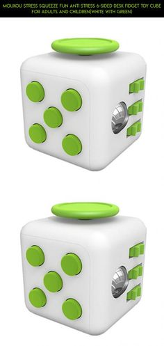 MouKou Stress Squeeze Fun Anti Stress 6-Sided Desk Fidget Toy Cube for Adults and Children(White with Green) #drone #and #cube #parts #green #camera #gadgets #fidget #kit #plans #fpv #shopping #products #technology #racing #white #tech