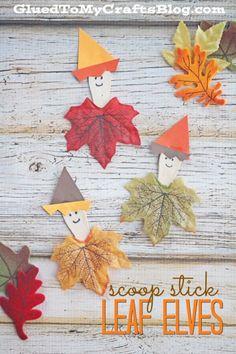 Scoop Stick Leaf Elves - Kid Craft