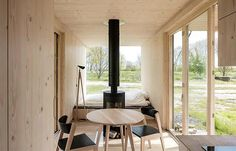 The interior of a cabin
