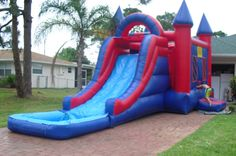 Mega Slide Combo With Pool 4in1