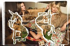 kate moss, stella mccartney ad campaign.
