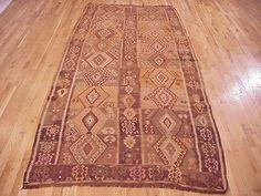 "Kilim & Flatweave 12' 0"" x 5' 4"" Vintage Kilim at Persian Gallery New York - Antique Decorative Carpets & Period Tapestries"