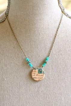 Etsy Transaction - Mon Cheri.French shabby chic long charm necklace. Tiedupmemories
