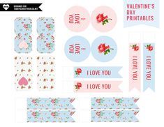 love printables 2.0      I love the colours