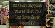 22 Craft Supplies Stores That You May Have Never Heard Of Crafts To Sell, Fun Crafts, Diy And Crafts, Cheap Craft Supplies, Craft Websites, You May, Sewing Notions, Tool Design, Craft Stores