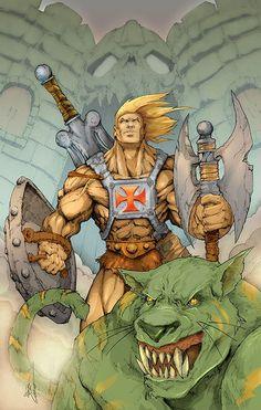 He-Man: Original Illustrations by Alberto Cortes Comic Drawing, Cartoon Drawings, Cartoon Art, Comic Book Heroes, Comic Books Art, Comic Art, Dc Anime, Anime Comics, Gi Joe