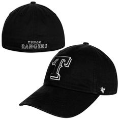 """Show off that Rangers pride in style! This Franchise Lights Out hat from '47 Brand with its black and white design will give you that inyourface look you desire. It features an embroidered Texas wordmark on the crown and """"Texas Rangers"""" lettering on the back. No matter if you are coming or going, no one will be able to miss …"""