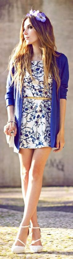 Look Du Jour: A Shade Of #blue by Fashion Coolture