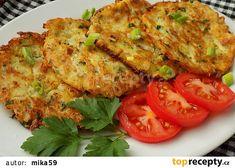 Cibulové placičky s petrželí recept - TopRecepty.cz Food 52, Quiche, Shrimp, Chicken, Vegetables, Breakfast, Czech Recipes, Nova, Diet