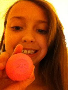 Eos lip balm (strawberry#me
