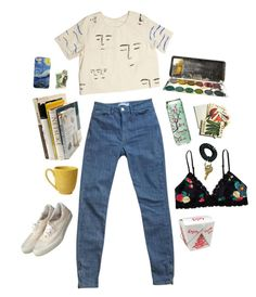 """""""i have nothing"""" by kampow ❤ liked on Polyvore featuring mode, Monki, Beekman 1802, American Apparel et Pier 1 Imports"""