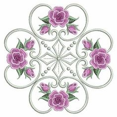 Pearl Roses Quilt 8, 2 - 3 Sizes!   What's New   Machine Embroidery Designs   SWAKembroidery.com Ace Points Embroidery