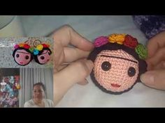 LIVE - Amigurumi sem Mistérios - Chaveiro Frida Kahlo