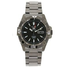 Seiko Men's SNZH15 23 Jewels Stainless Steel Automatic Black Dial Watch Seiko. $165.00. Stainless steel case. Black dial. Water-resistant to 330 feet (100 M). Scratch resistant hardlex. Rubber bracelet