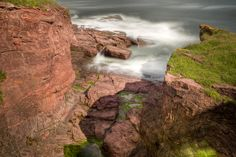 This photo shows the cliffs at Arbroath, on the eastern coast of Scotland, where Jamie and his group of smugglers attempted a rendezvous in VOYAGER.