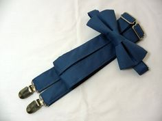 Steel Blue Suspenders and Steel Blue Bow Tie. Bridal Color Steel Blue. Sizes Infant-Adult. Free Fabric Sample Available. Ring Bearer Suspenders, Suspenders And Tie, Groomsmen Suspenders, Wedding Suspenders, Steel Blue Bridesmaid Dresses, Blue Bridesmaids, Blue Dresses, Steel Blue Dress, Steel Blue Weddings
