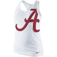 Nike Alabama Crimson Tide Ladies Logo Tri-Blend Racerback Tank Top - White