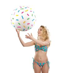 Giant Donut Hole Beach Ball (with sprinkles) - BIGMOUTH INC