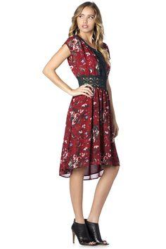 brilliant blooms high-low dress