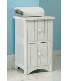 Shabby chic**** 2 drawer & 2 door white storage unit ****shaker ...