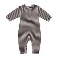 Navy and White Striped One Piece PJ Suit
