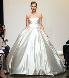 0d8d8c1f5972 Ines Di Santo Spring/Summer 2013 Wedding Dress Collection - Zaneta -  Strapless light Silk Mikado ball gown with pleated detail at bodice and  accented with ...