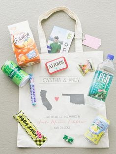 61 best Welcome Bag Ideas images on Pinterest | Wedding welcome bags ...