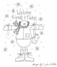 6 Best Images of Free Primitive Patterns Printable - Free Printable Primitive Star Patterns, Free Primitive Stitchery Patterns and Free Christmas Stitchery Pattern Primitive Embroidery, Primitive Stitchery, Primitive Patterns, Primitive Crafts, Vintage Embroidery, Primitive Snowmen, Embroidery Transfers, Hand Embroidery Patterns, Applique Patterns