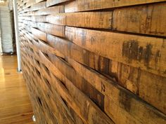 wine barrell wall