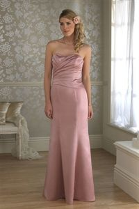 Pink Mermaid Prom Dress, Sweetheart Bridesmaid Dress, Dresses For Prom   $132.00