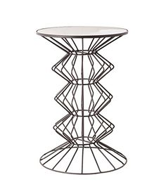 Privilege 30097 Iron /& Wood Accent Table