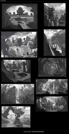 (1)Gliulian第二期场景原画网络... Environment Sketch, Environment Painting, Composition Painting, Composition Design, Landscape Concept, Cg Artwork, Matte Painting, Conceptual Design, Environmental Art