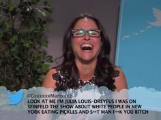 Julia's was my fave - these are always funny -Celebrities Read More Mean Tweets About Themselves On 'Jimmy Kimmel Live!'