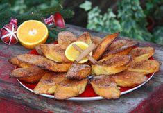 Rabanadas Assadas no Forno Portuguese Desserts, Portuguese Recipes, Portuguese Food, Pasta, Spanish Food, Christmas Desserts, Cake Recipes, French Toast, Bacon