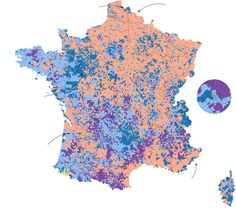 Présidentielles 2017: Detailed maps show sharp differences between the bases of support for Marine Le Pen and Emmanuel Macron.