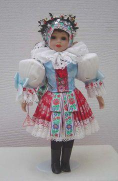 The doll in South Moravian folk costume - Traditional Czechia Folk Costume, Costumes, European Countries, Gothic Lolita, Czech Republic, Childhood Memories, Folk Art, Harajuku, Traditional