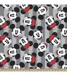 Disney Mickey And Minnie Fleece Fabric