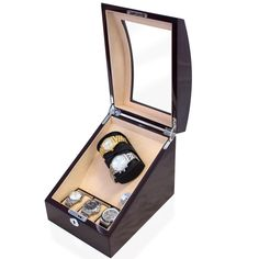 The best mahogany automatic watch winder box keeps your automatic watches wound and ready to wear. Gift this watch box and winder this holiday season for the stylish guy with a collection of automatic watches! Gift Guide For Him, Gifts For Him, Watch Organizer, Watch Box, Holiday Gift Guide, Automatic Watch, Carbon Fiber, Bracelet Watch, Two By Two