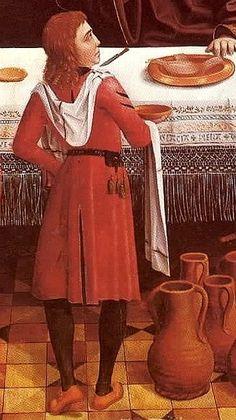 Fantastic fringe on cloth!  sługa z ręcznikiem - 1496-97Master of the Retable of the ReyesCatólicos - copia (3)