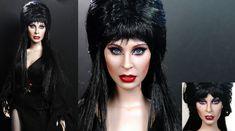 Cassandra Peterson aka Elvira custom doll repaint by noeling.deviantart.com on @deviantART