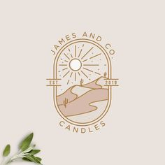 "Aleksandra on Instagram: ""☀️🏜dunes and romance🏜☀️ updated version James & Co. Candles logo design . . . #logodesigner #logodesign #desertlogo #dunes"