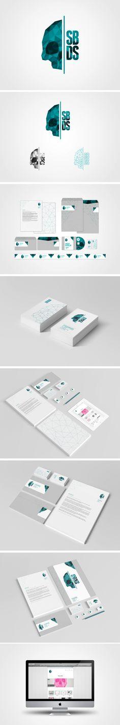 "SBDS's ""Self-Branding"" from Stian Bjørhovde Design Studio, via Behance. I love that despite using polygon design trends, it's still unique branding."