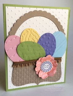 Stampin' Up! Easter Egg Basket Card Elaine's Creations