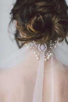 Libera Bridal Comb. Wedding Headband Bridal by OffwhiteStudio