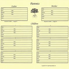 Family Tree Our Roots - Family Group Chart