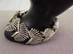 Pegasus Coro Fan Link Gold Tone Bracelet 1955-60s by thejeweledbear on Etsy